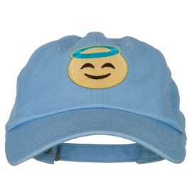 Angel Emoji Patched Unstructured Washed Cap