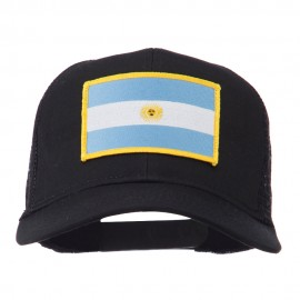 Argentina Flag Patched Mesh Cap