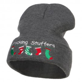 Christmas Stocking Stuffers Embroidered Long Beanie