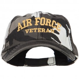 Air Force Veteran Letters Embroidered Camo Cap