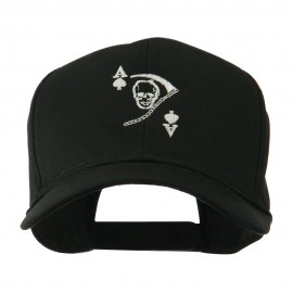 Ace of Death Vietnam War Emblem Embroidered Cap - Black