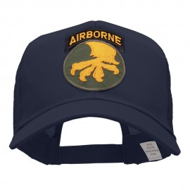 Airborne With Claw Circular Patched Cotton Mesh Cap