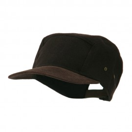 Adjustable 4 Panel Baseball Cap - Dark Brown