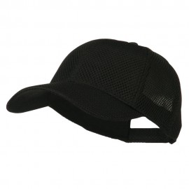 Air Mesh Polyester Cap - Black