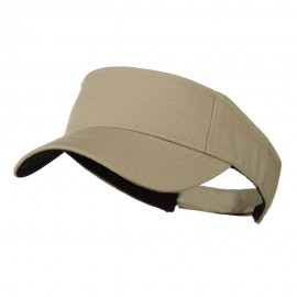 Ace Plain Strap Back Visor - Khaki