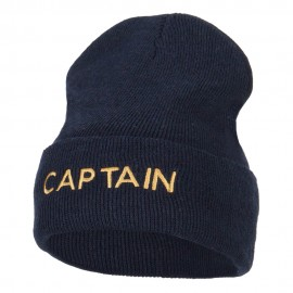 Captain Embroidered Stretch ECO Cotton Long Beanie