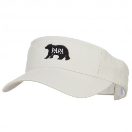 Papa Bear Embroidered Pro Style Cotton Washed Visor
