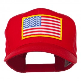 American Flag Patched High Profile Cap