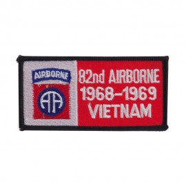 Air Borne Rectangle Embroidered Military Patch - 82nd