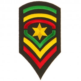 Assorted Rasta Patch-Army Star