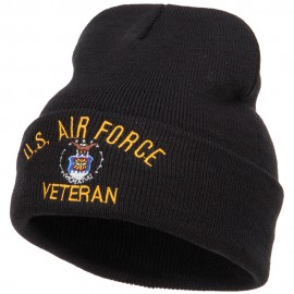 US Air Force Veteran Military Embroidered Long Beanie