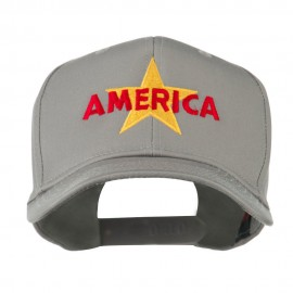 Wording of America with Star Embroidered Cap