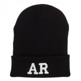AR Arkansas State Embroidered Long Beanie