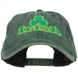 Irish and Shamrock Outline Embroidered Washed Cotton Cap