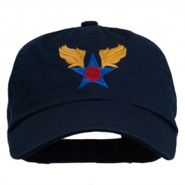 Army Air Corps Military Embroidered Washed Cap