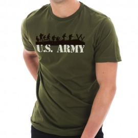US Army Soldiers Graphic Design Short Sleeve Cotton Jersey T-Shirt