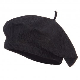 Traditional Ladies Knit Beret - Black