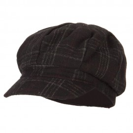 Classic Plaid Patterned Newsboy Cap