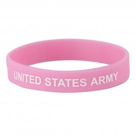 Army Silicone Wristband - Pink