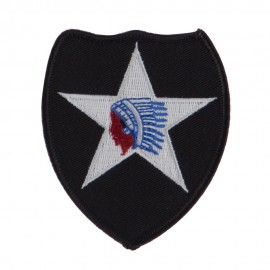 Army Shield Shape Embroidered Military Patch - 2nd