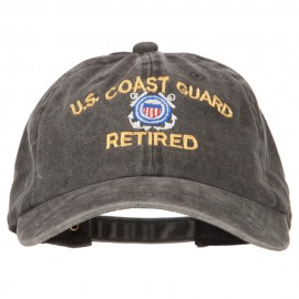 US Coast Guard Retired Embroidered Washed Cotton Twill Cap