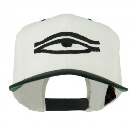 All Seeing Eye Embroidered Flat Bill Cap - Natural Black