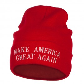 Make America Great Again Embroidered Long Beanie
