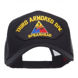 US Army Third Division Patched Mesh Cap - Black