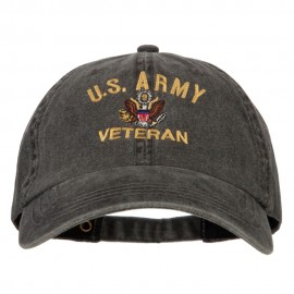 U.S. Army Veteran Embroidered Big Size Washed Cap