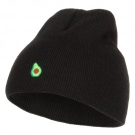 Mini Avocado Embroidered Short Beanie