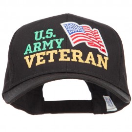 Wording of US Army Veteran with Flag Patched Pro Cap