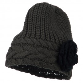 Women's Flower Short Acrylic Beanie