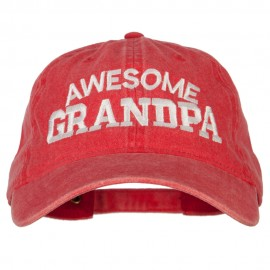Awesome Grandpa Embroidered Washed Cotton Twill Cap