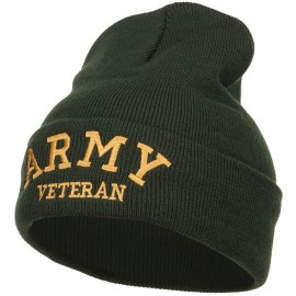 Army Veteran Letters Embroidered Long Beanie