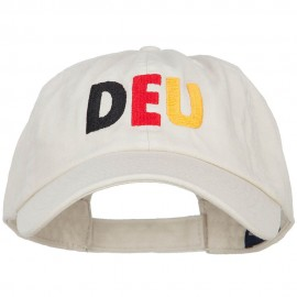 Germany DEU Flag Embroidered Low Profile Cap