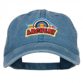 Archery Arrow Patched Washed Cap