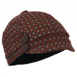 Gaby 2 Button 6 Panel Cabbie Cap