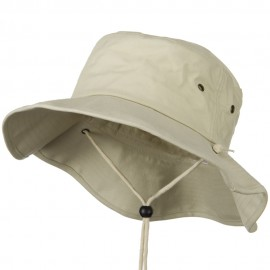 Big Size Cotton Australian Hat - Stone