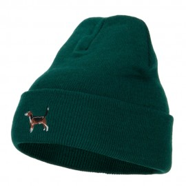 Beagle Dog Embroidered Long Beanie