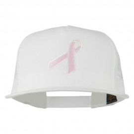 Breast Cancer Ribbon Embroidered Mesh Cap