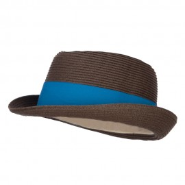 UPF 50+ Wide Band Braid Fedora