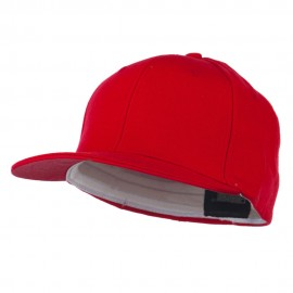 Flat Bill Fitted Flex Cap - Red