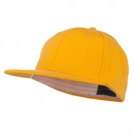 Flat Bill Fitted Flex Cap - Yellow