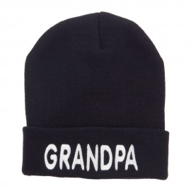 Wording of Grandpa Embroidered Cuff Beanie