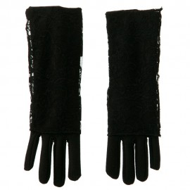 2 in 1 Black Lace Cover Glove