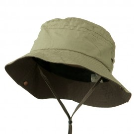 Big Size Talson UV Bucket Hat with Chin Cord - Khaki Brown