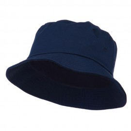 Big Size Cotton Blend Twill Bucket Hat - Navy