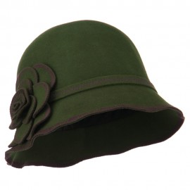 Women's Wool Felt Bucket Shape Cloche