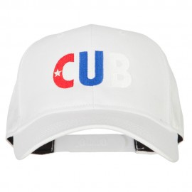 Cuba CUB Flag Embroidered Solid Cotton Pro Style Cap