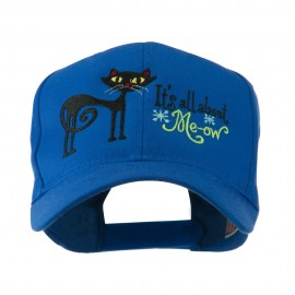 Halloween Black Cat Embroidered Cap